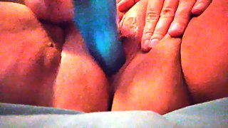 Pounding my pussy with my vibrator