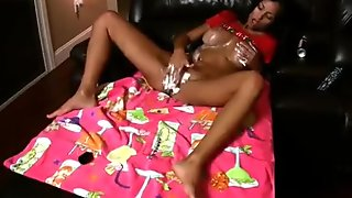 Janessa brazil masterbates while covered in whipped cream
