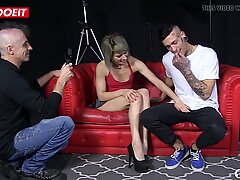 MMF threesome with Spanish pornstar and amateur guy