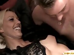 Dirty Blonde Cougar Gets Her Tight Anal Hole Pounded Hard